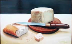 Mendrugo de pan y queso